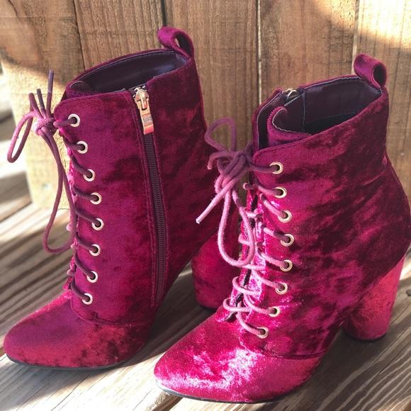 Catherine Malandrino Shoes - Catherine Malandrino Lace-up Round Heel Booties